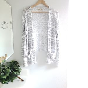 Hollister Marble White Cardigan Size M/L